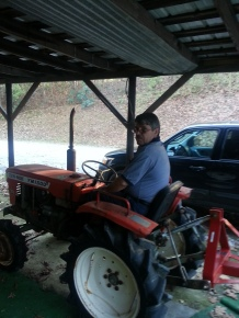 Ron on tractor